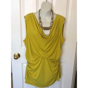 XL Yellow Sleeveless Top by Alfani